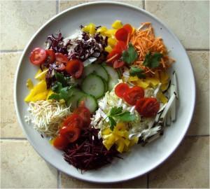 Frischkost_Heilkost_Lebensmittel_Salat_unter-der-Erde-Gewachsenes_über-der-Erde-Gewachsenes_Gesundheit_Wohlbefinden_Stoffwechsel