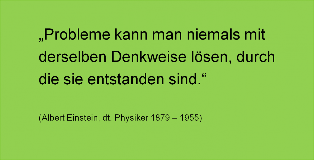 Probleme Denkweise Einstein