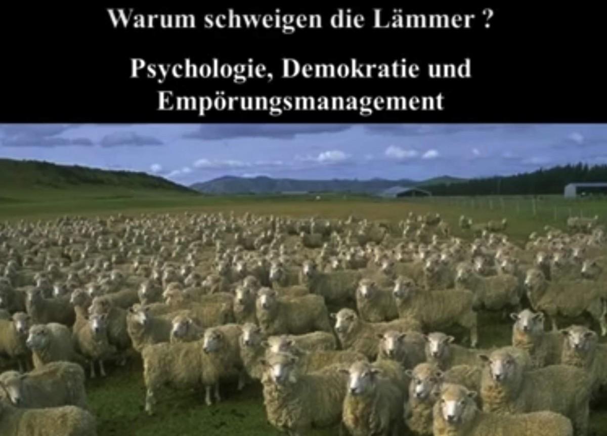 warum schweigen die laemmer vortrag Professor Dr rainer mausfeld