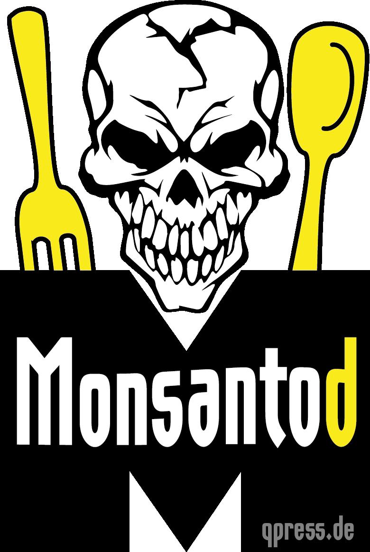 Monsantod Logo Gift Gentech Schaedel Loeffel Gabel Tod trans