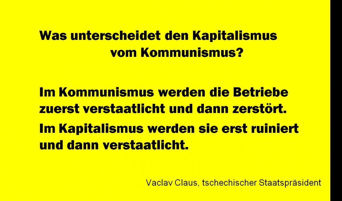 Kapitalismus Kommunismus