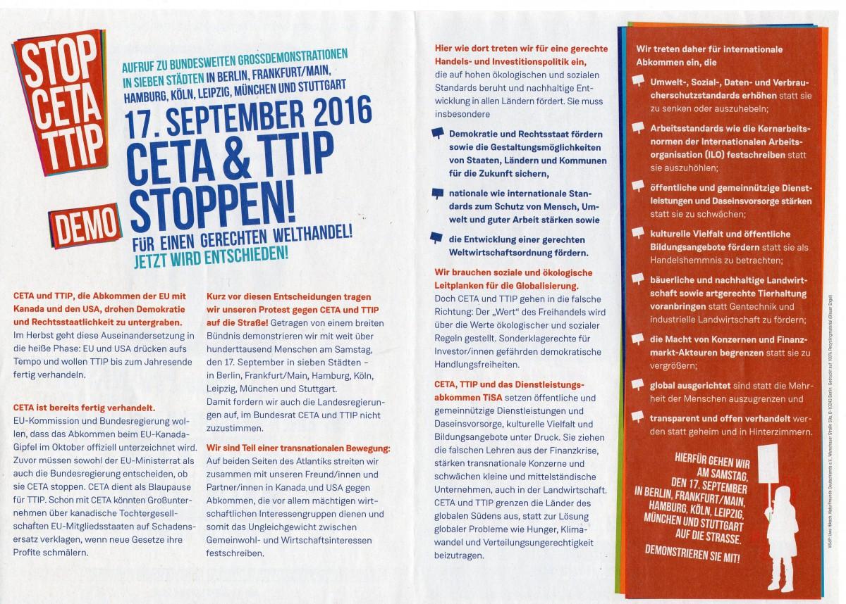 Aufruf STOP CETA TTIP 17092016 2