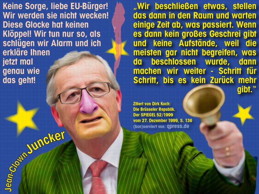 Jean-Claude-Clown-Juncker-EU-Diktatur-Kommission-Europa-Praesident-Wahlkampf-Europawahl-2014-Spitzenkandidat-qpress